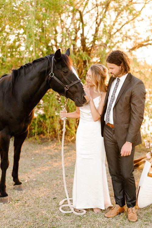Aspen Ranch Horse Wedding